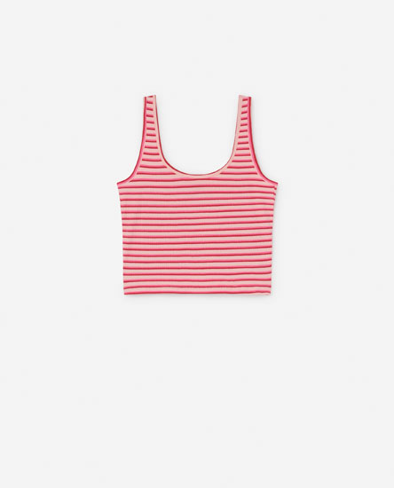 Striped strappy crop top