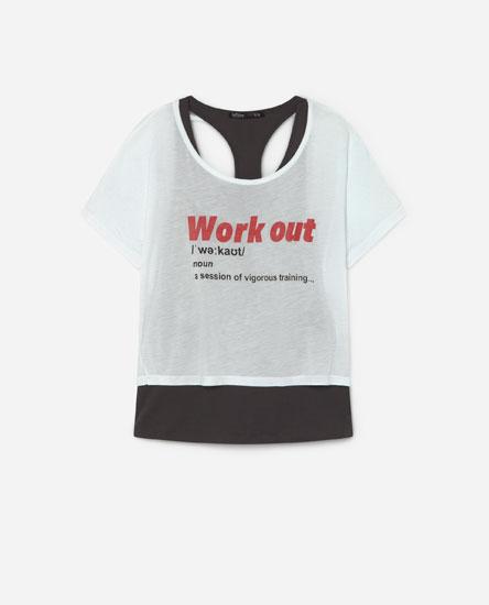 Camiseta dobre deportiva