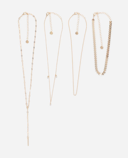 Pack of 4 necklaces