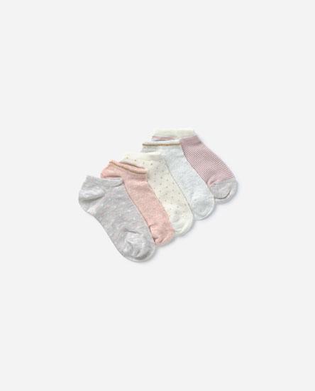5-pack of printed ankle socks