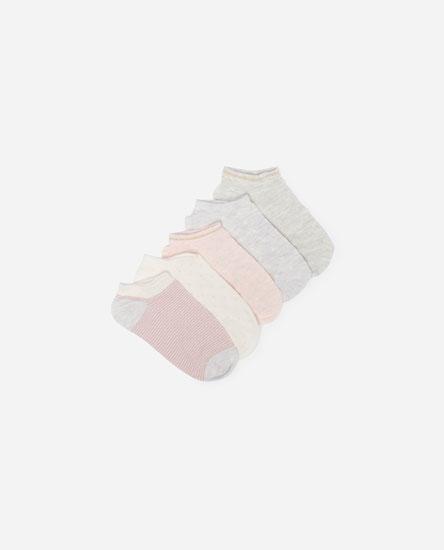 Pack of 5 embellished socks