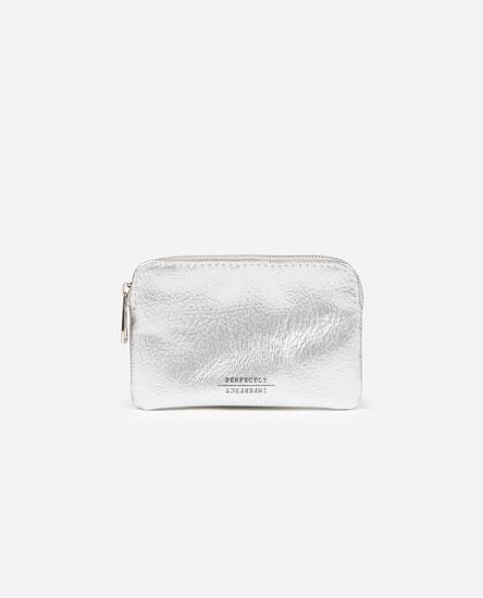 Basic faux patent leather purse