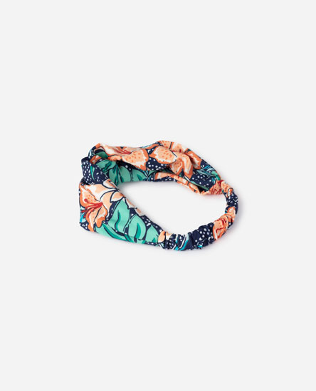 Tropical print bandana