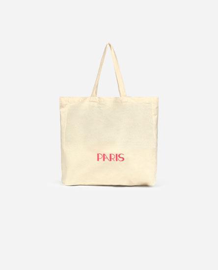 Paris fabric tote bag