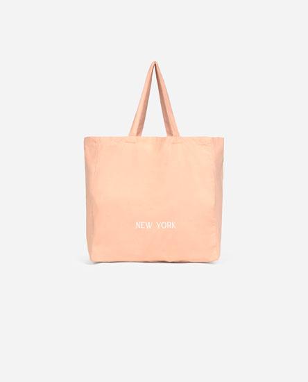 New York fabric tote bag