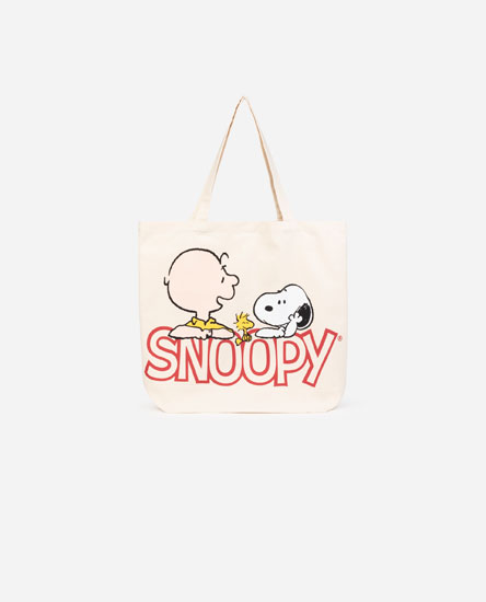 Snoopy fabric tote bag