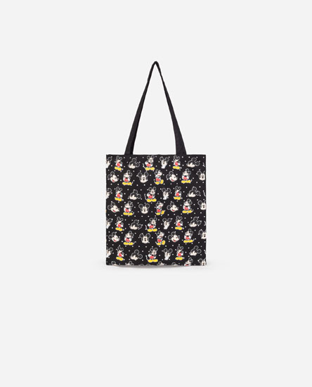 Mala tote bag de tecido do Mickey