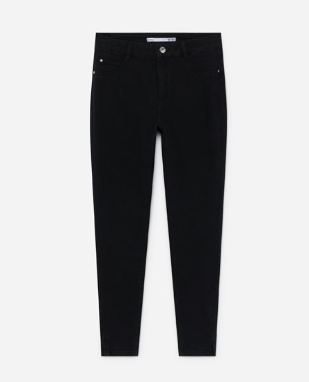 Regular waist superskinny jeans