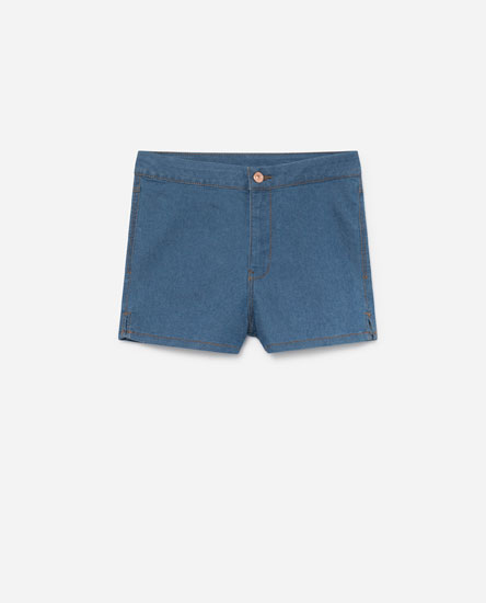 Short denim high rise