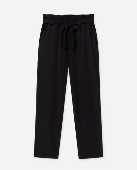 Harem trousers with bow