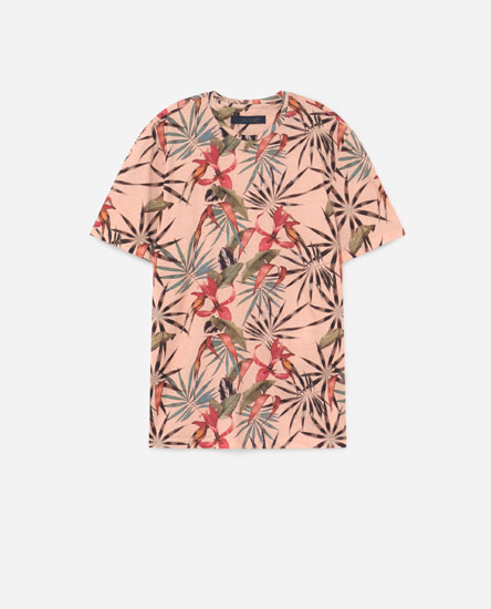 Camiseta estampado tropical