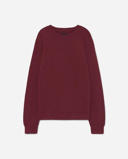 Plush jersey sweatshirt
