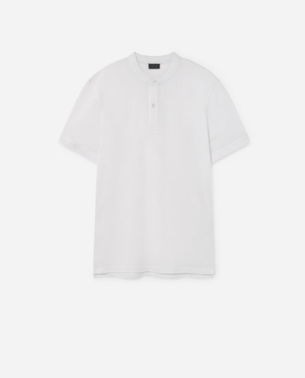 Basic Polo Shirt with Stand-Up Collar