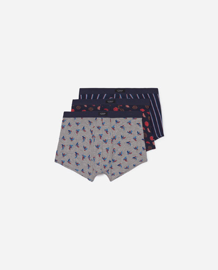 Pack of fruit print boxers
