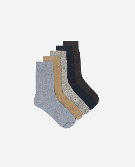 Pack of 5 flecked socks