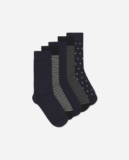 Pack 5 calcetines topos