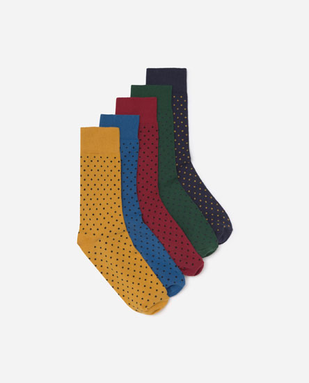 5-Pack of polka dot socks