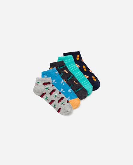 Pack of summer print socks