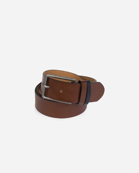 Two-tone detail belt