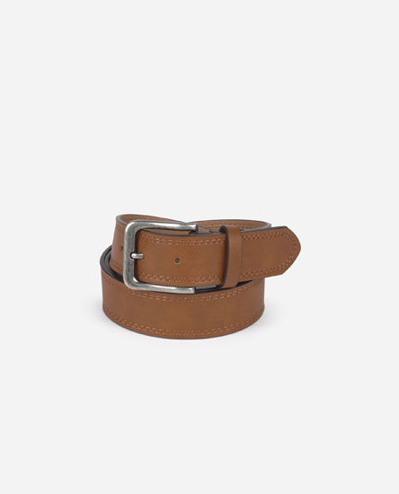 Belt with Topstitching