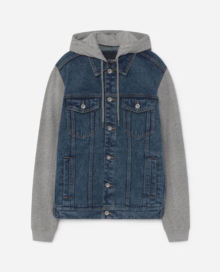 Куртка с контрастными деталями