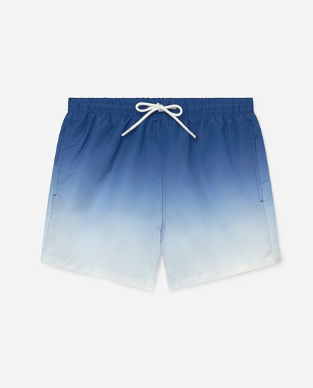 Tie-dye swimming trunks