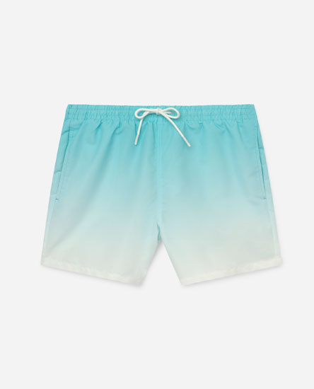 Ombré Printed Swimming Trunks