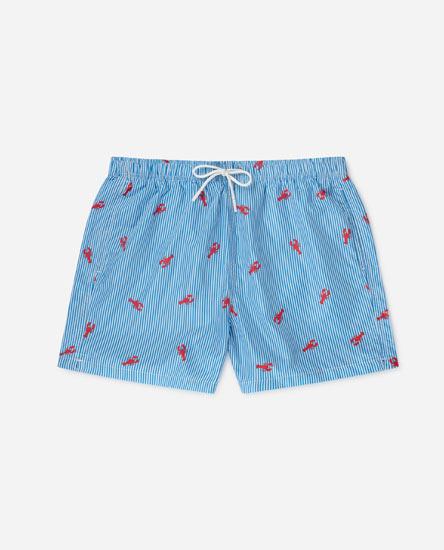Printed lobster swimming trunks