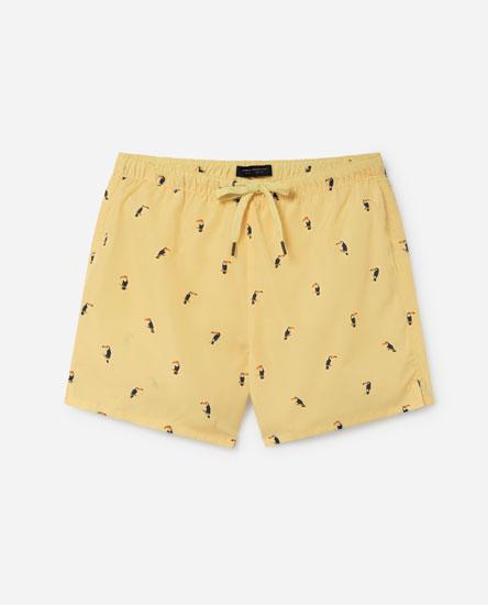 Toucan print swim shorts