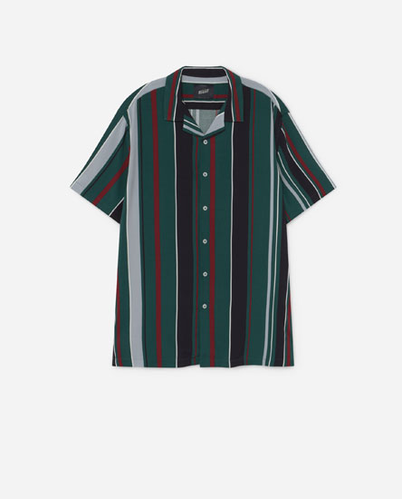Multicoloured striped shirt