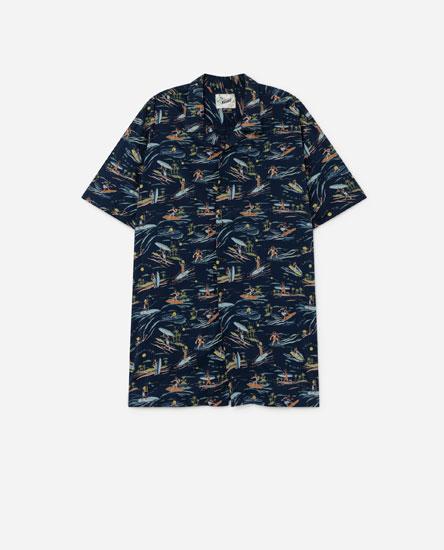 Рубашка с принтом «Серфинг»