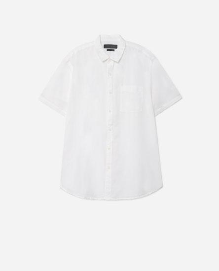 Camisa de màniga curta lli-cotó