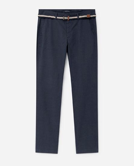 Pantalón tipo chinés estampado