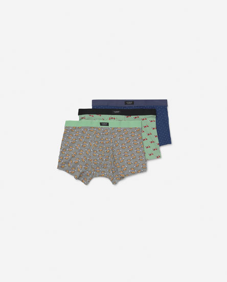 3-Pack of Printed Boxers