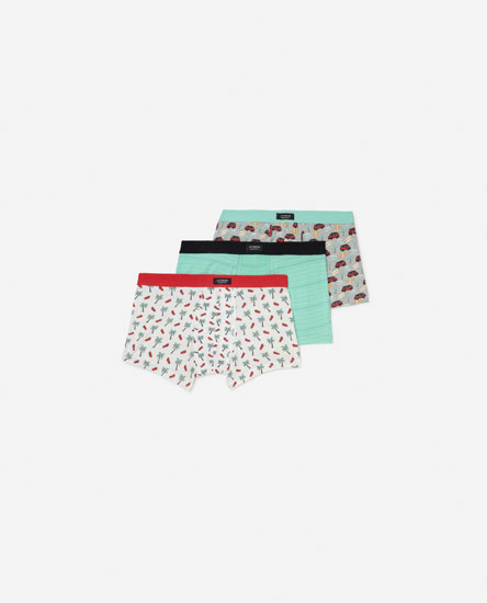 3-Pack of Palm Tree Boxers