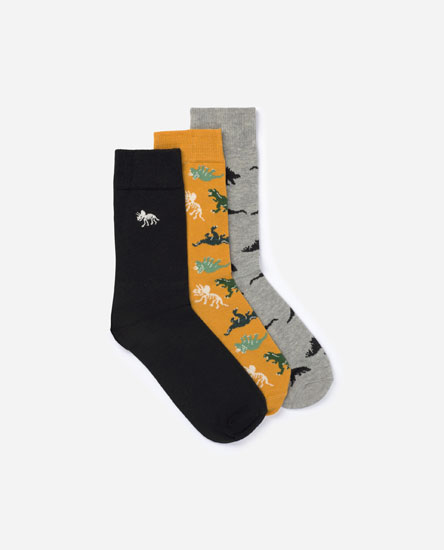 3-Pack of Long Printed Socks