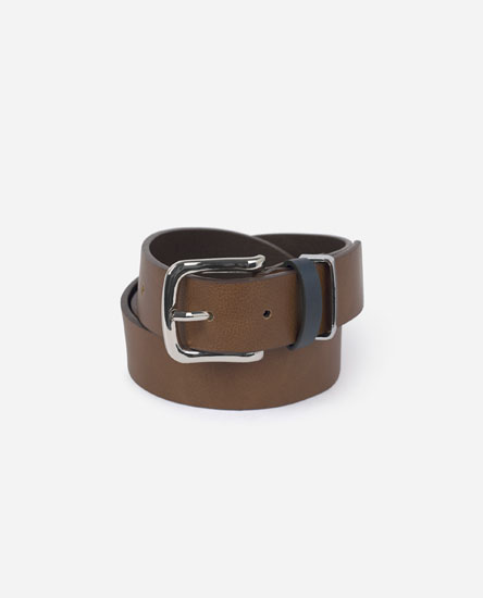 Belt with Metal Belt Loop