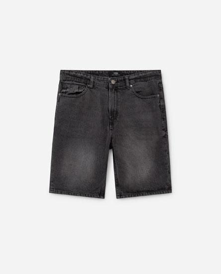 Basic Denim Bermuda Shorts
