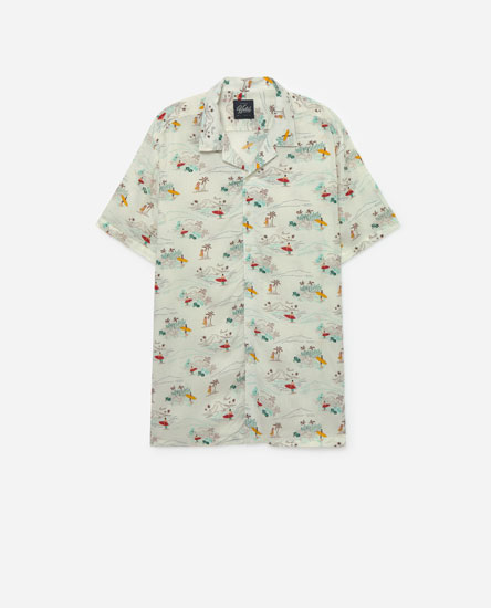 Camisa estampat Hawaii