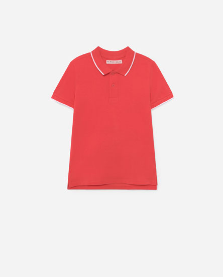 Polo shirt with contrast detail
