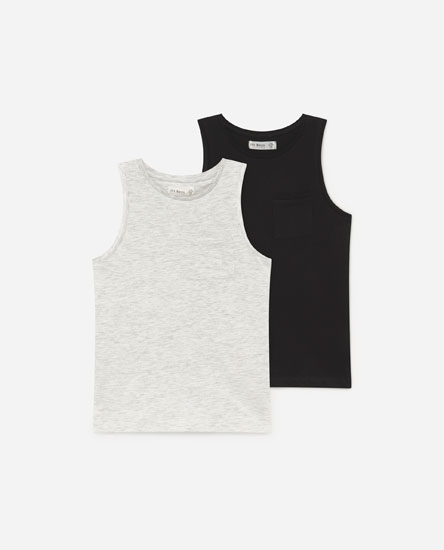 Pack Of 2 Basic Strappy T-shirts