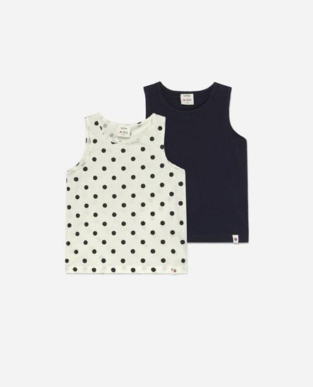Pack de 2 t-shirts de alças