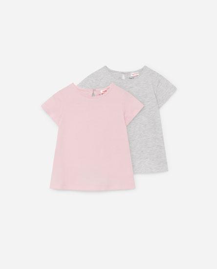 Pack 2 camisetas manga corta