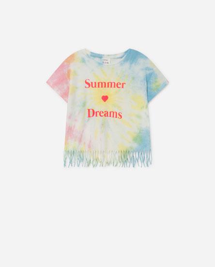 T-shirt Manga Curta Tie-dye
