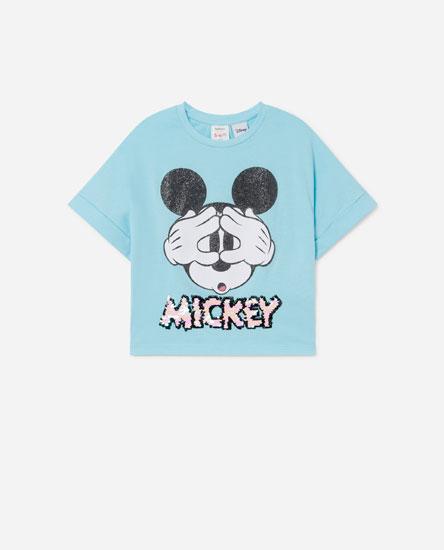 T-shirt © Disney com lantejoulas