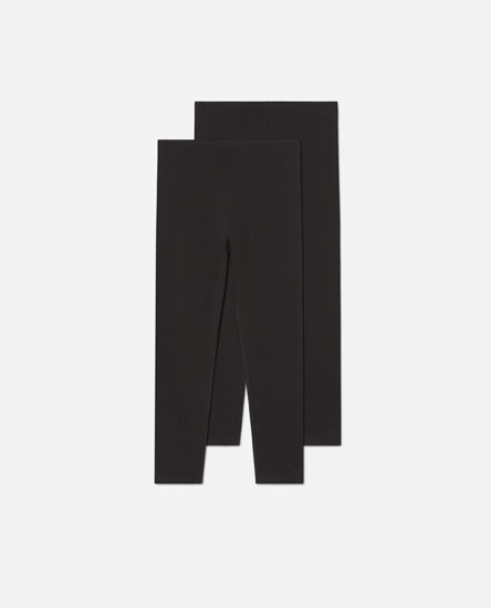 Pack of 2 plain leggings