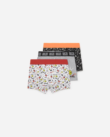 3-PACK OF ALIEN PRINT BOXER SHORTS.