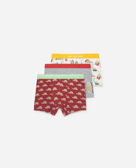 3-PACK OF FOOD PRINT BOXER SHORTS.