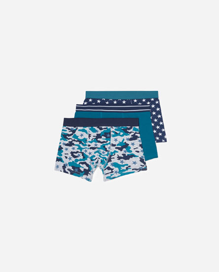 Pack of 3 camouflage boxers