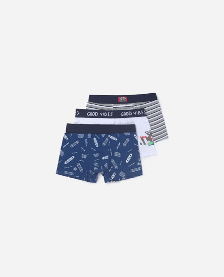 Pack of 3 good vibes boxers